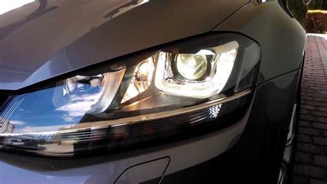 golf xenon bi led headlights vii volkswagen tsi presentation