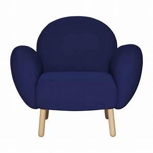Fauteuil Bleu Marine : bumpy fauteuils fauteuil bleu marine tissu habitat ~ Teatrodelosmanantiales.com Idées de Décoration