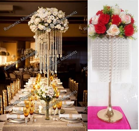 "62cm 24 4""(H) Wedding Crystal Table centerpiece gold"