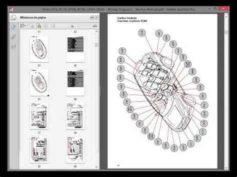 volvo v70 xc70 v70r xc90 2004 2005 wiring diagrams