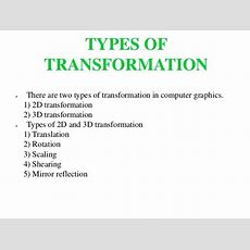 3d Transformation Computer Graphics