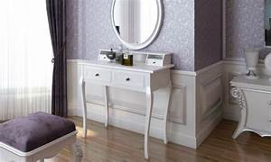 Coiffeuse 3 Miroirs : coiffeuse miroir et tabouret groupon shopping ~ Teatrodelosmanantiales.com Idées de Décoration