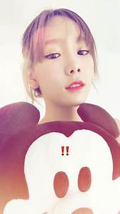 Check out SNSD TaeYeon's cute photo with her Mickey ...