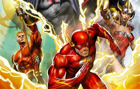 The Flash Animated Wallpaper - wallpaper aquaman yuusha justice league the flash