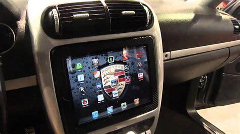 ipad  install  car motorized sbn  porsche cayenne   underground auto styling