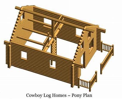Log Square Cabin Feet Pony Homes Construction