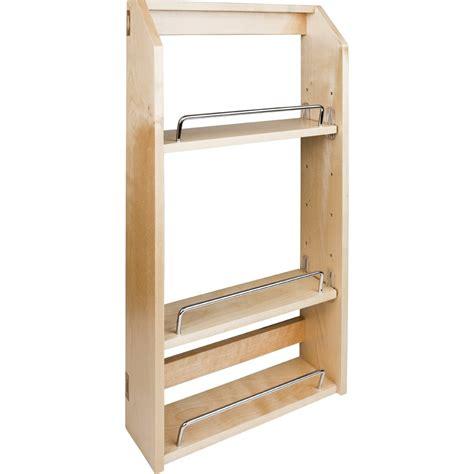 spice cabinet wall mount door mount spice rack fits behind 15 quot wall cabinet door