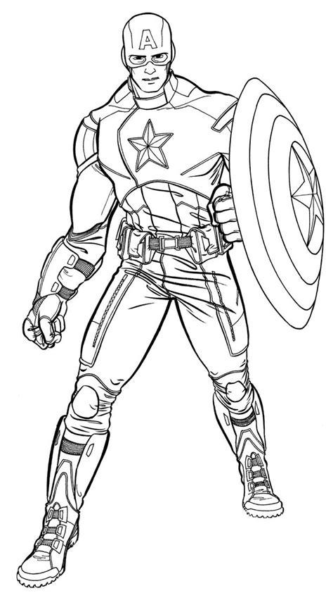 Capitão América para Colorir e Imprimir - Muito Fácil