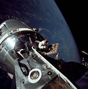 David Scott in the Apollo 9 Command Module   NASA