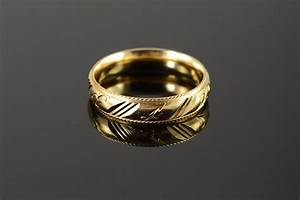 14k beautiful carved engraved fancy wedding band men39s for Mens carved wedding rings
