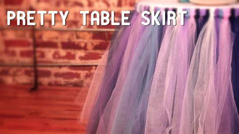 How To Make a No Sew TuTu Table Skirt Video   HGTV