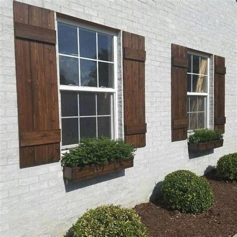 wood shutters rustic exterior cedar shutters board