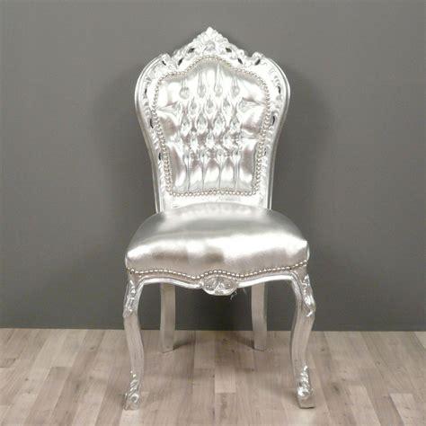 chaises baroque chaise baroque argentée chaises baroque pas cher