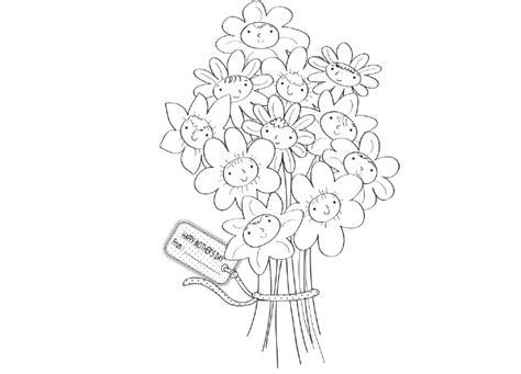 disegni di mazzi di fiori da colorare disegni di mazzi di fiori