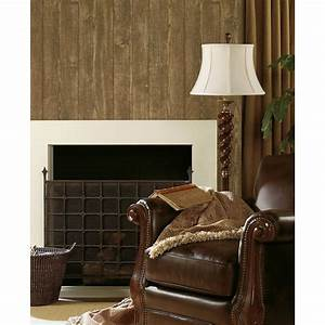 Brewster 56 sq. ft. Ardennes Brown Wood Panel Wallpaper ...