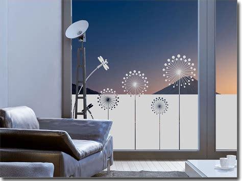 Fenster Sichtschutzfolie Ohne Kleben by Sichtschutzfolie Moderne Pusteblume Fenster