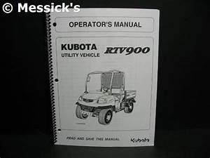 Kubota  Rtv900 Owners Manual  Part   K7561