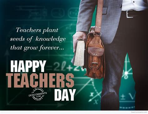 teachers plant seeds  knowledge happy teachers day
