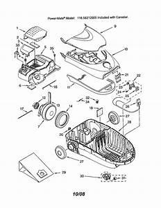 Looking For Kenmore Model 11626212605 Canister Vacuum Repair  U0026 Replacement Parts