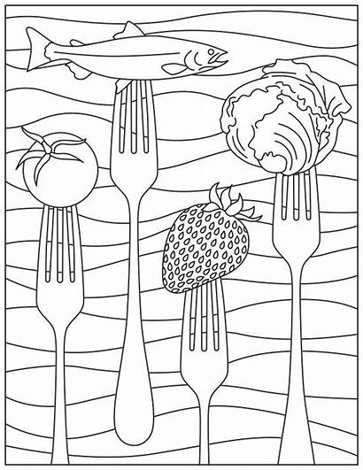 Nutrition Coloring Month National Drawing Printable Activity