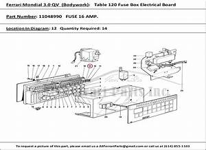 Ferrari Part Number 11048990 Fuse 16 Amp