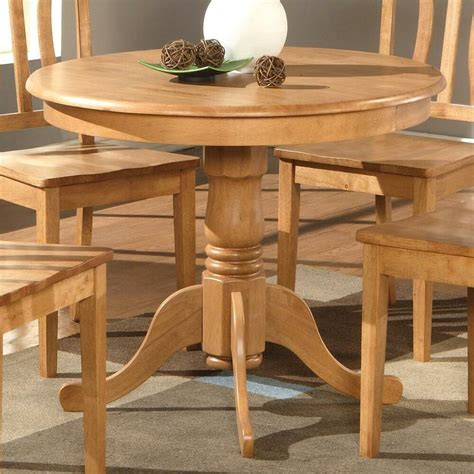Kitchen Nook Furniture by Light Oak 36 Quot Pedestal Small Dining Table Kitchen