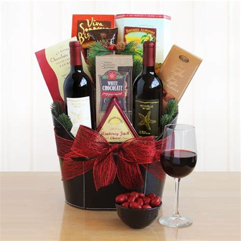 jingle all the way holiday wine gift basket at gift