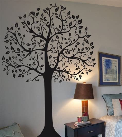wall decor adhesive large family tree wall sticker fashion home decoration