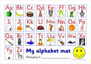 alphabet picture mat uppercase with lowercase sb5841 With alphabet letters upper and lower case