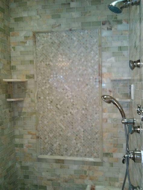 light green onyx shower tile design inspirations