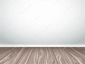 Empty white wall and parquet. Interior empty room. Vector ...