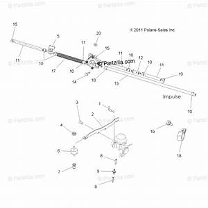 Polaris Atv 2013 Oem Parts Diagram For Engine  Carburetor