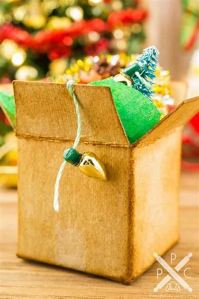 Christmas Decorations Box Cardboard Miniature Dollhouse Provisions