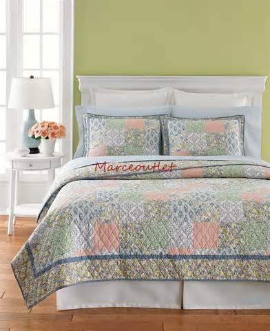 martha stewart quilts martha stewart sunshine patchwork twin cotton quilt pastels ebay