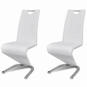 2 chaises de cuisine salon salle a manger design for Salle À manger contemporaineavec chaises salon blanches