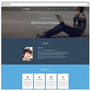 personal profile design templates - lt profile free responsive cv profile wordpress theme