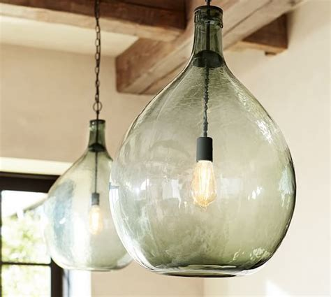 pottery barn clift l clift oversized glass pendant pottery barn