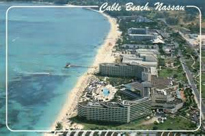 Cable Beach Nassau Bahamas Aerial View