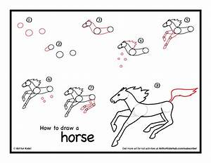 How To Draw A Horse - Art For Kids Hub - | Horse, Horse ...