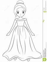 Coloring Wearing Gown Pages Template Sketch Useful Illustration sketch template