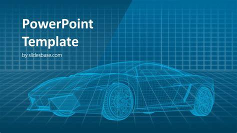 virtual car powerpoint template slidesbase