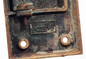 antique brass letter slot cover olde good things With antique brass letter slot