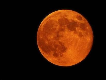 Moon Harvest September Orange Night Tonight Fall