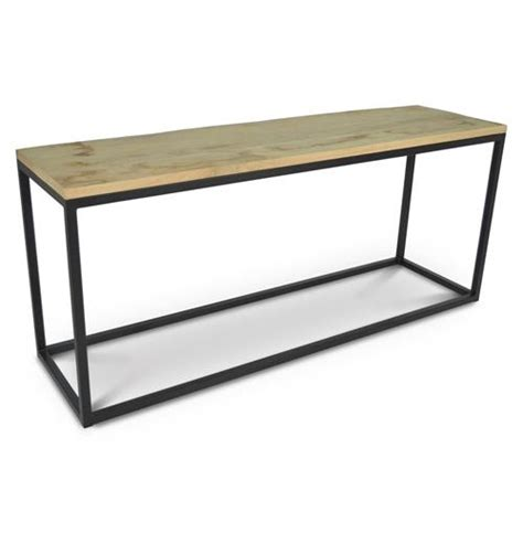 iron wood console table palecek soma console industrial loft reclaimed wood and 4803