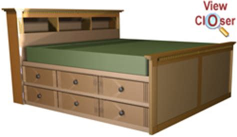 king size bed frame plans  drawers  woodworking