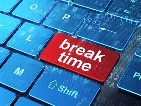 Break Time On Computer Keyboard