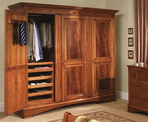 Large Clothing Wardrobe Armoire by Collections U003e Trafalgar Bedroom U003e Large Cherry
