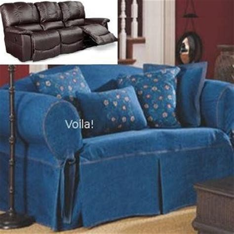 Denim Sofa Slipcover by Covers And Reclining Sofa On
