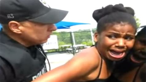Cops Slam 12 Year Old Black Girl Onto Squad Car Video