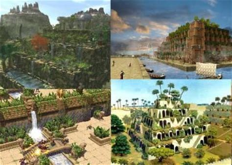 photos les jardins suspendus de babylone en mesopotamie